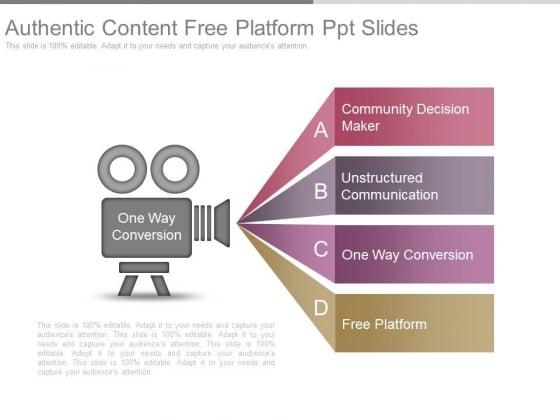 Authentic Content Free Platform Ppt Slides
