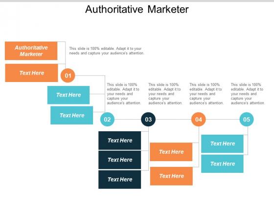 Authoritative Marketer Ppt Powerpoint Presentation Outline Design Inspiration Cpb