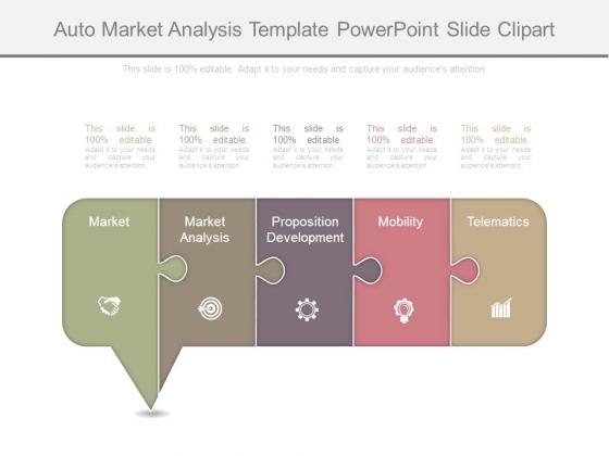 Auto Market Analysis Template Powerpoint Slide Clipart
