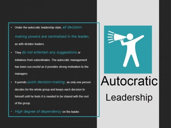 Autocratic Leadership Ppt PowerPoint Presentation Samples