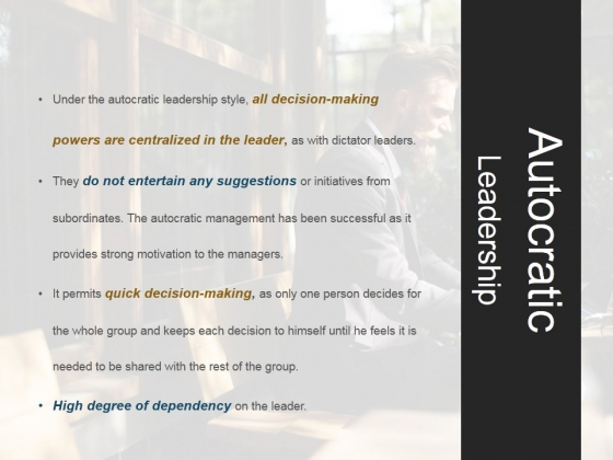 Autocratic Leadership Ppt PowerPoint Presentation Shapes