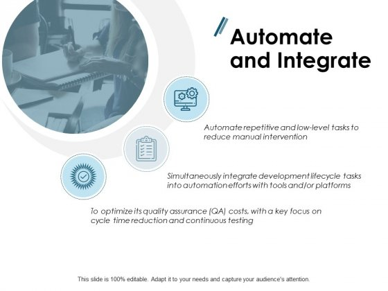Automate And Integrate Ppt PowerPoint Presentation Infographics Master Slide