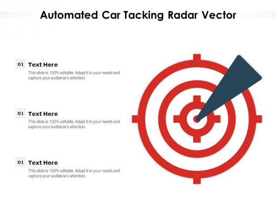 Automated Car Tacking Radar Vector Ppt PowerPoint Presentation File Infographics PDF