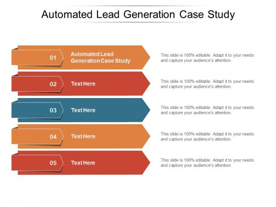 Automated Lead Generation Case Study Ppt PowerPoint Presentation Infographics Gallery Cpb Pdf