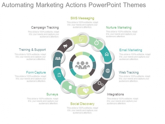 Automating Marketing Actions Powerpoint Themes