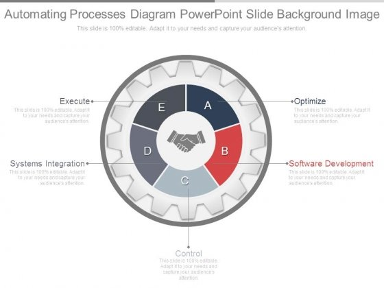 Automating Processes Diagram Powerpoint Slide Background Image
