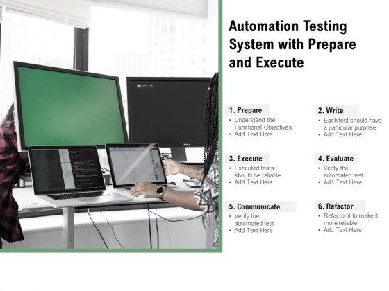 Automation Testing System With Prepare And Execute Ppt PowerPoint Presentation File Structure PDF