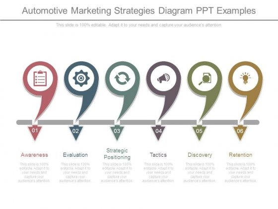 Automotive Marketing Strategies Diagram Ppt Examples