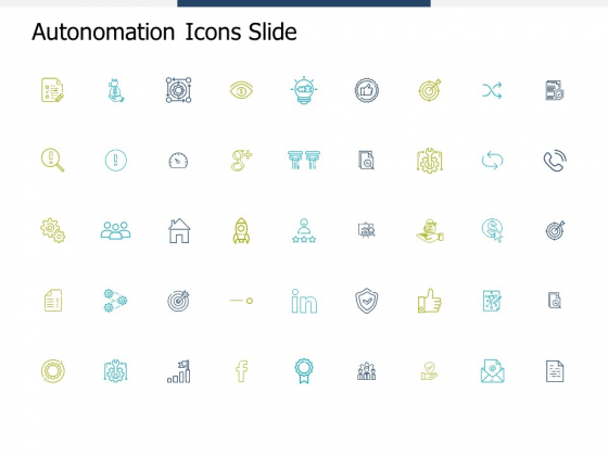 Autonomation Icons Slide Planning Ppt PowerPoint Presentation Infographics Mockup