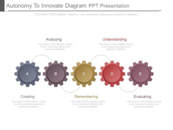 Autonomy To Innovate Diagram Ppt Presentation