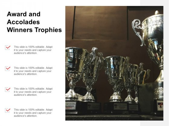 Award And Accolades Winners Trophies Ppt PowerPoint Presentation Icon Slide