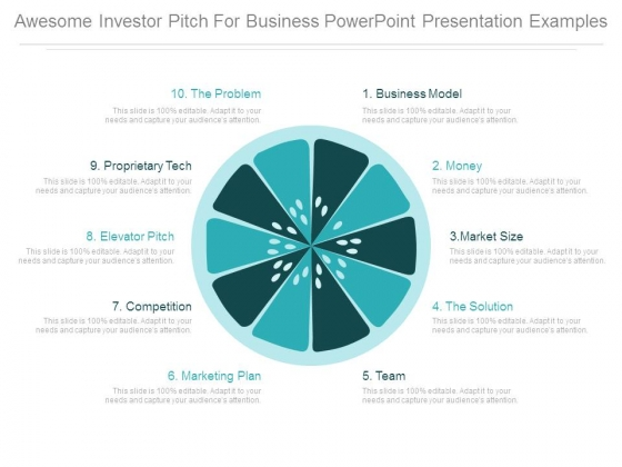 Awesome Investor Pitch For Business Powerpoint Presentation Examples