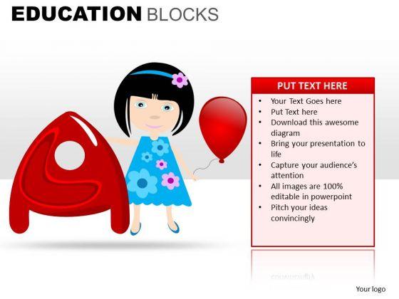 A Alphabet Education PowerPoint Templates Ppt Slides