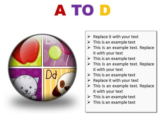 A To D Education PowerPoint Presentation Slides C