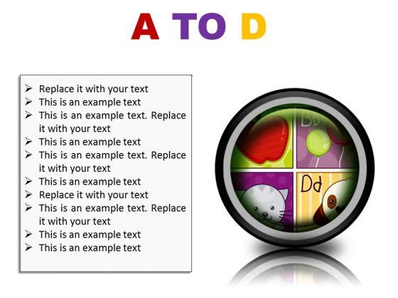 A To D Education PowerPoint Presentation Slides Cc