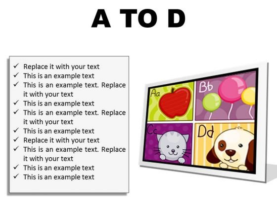 A To D Education PowerPoint Presentation Slides F