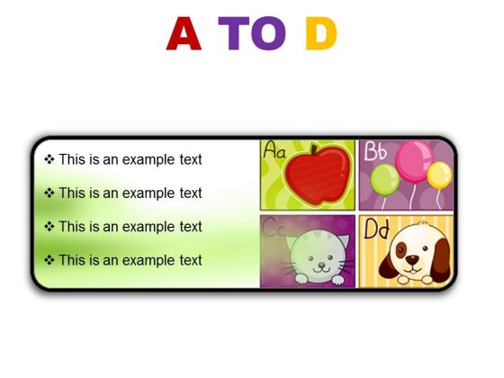 A To D Education PowerPoint Presentation Slides R
