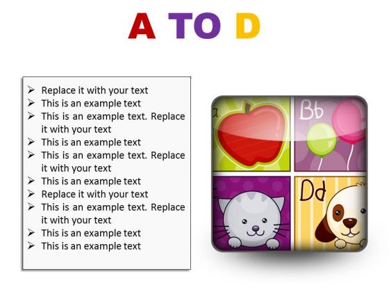 A To D Education PowerPoint Presentation Slides S