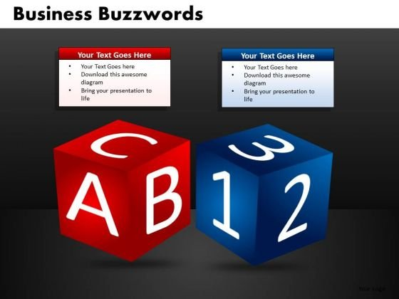 Abc 123 Dice PowerPoint Ppt Templates