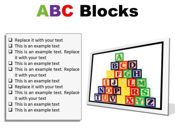 abc blocks education powerpoint presentation slides f powerpoint
