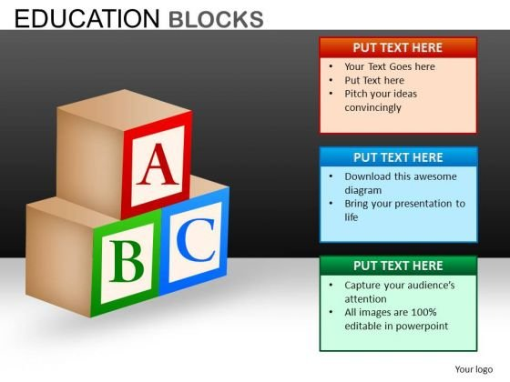 Abc Blocks PowerPoint Ppt Templates