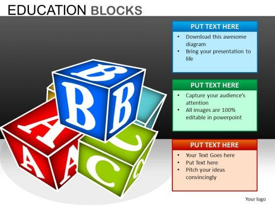 Abc Building Blocks PowerPoint Templates