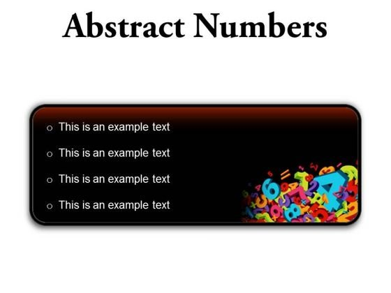 Abstract Numbers Education PowerPoint Presentation Slides R