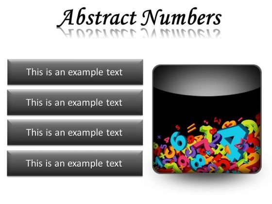 Abstract Numbers Education PowerPoint Presentation Slides S