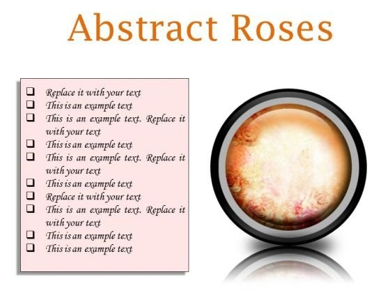 Abstract Roses Background PowerPoint Presentation Slides Cc
