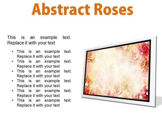 Abstract Roses Background PowerPoint Presentation Slides F
