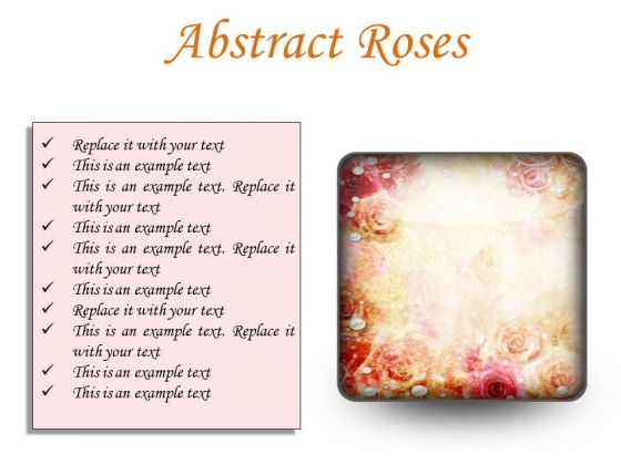 Abstract Roses Background PowerPoint Presentation Slides S