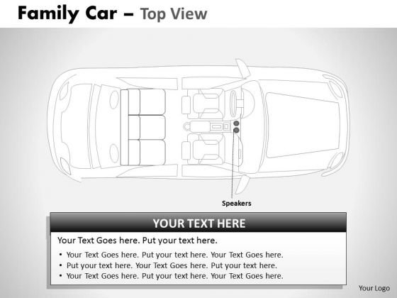 Acceleration Blue Family Car Top View PowerPoint Slides And Ppt Diagram Templates