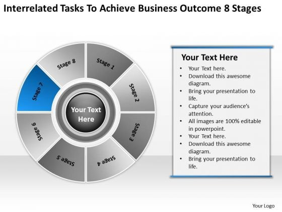 Achieve Business Outcome 8 Stages Real Estate Plan Sample PowerPoint Templates