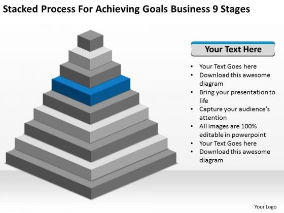 Achieving Goals Business 9 Stages Ppt Planning Software PowerPoint Templates
