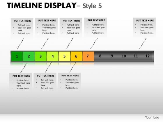 Action Timeline Display 5 PowerPoint Slides And Ppt Diagram Templates