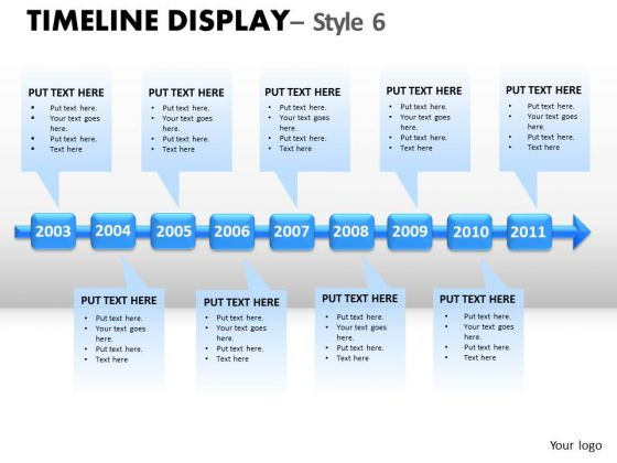 Action Timeline Display 6 PowerPoint Slides And Ppt Diagram Templates