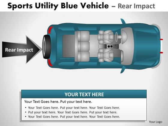 Active Sports Utility Blue Vehicle PowerPoint Slides And Ppt Diagram Templates