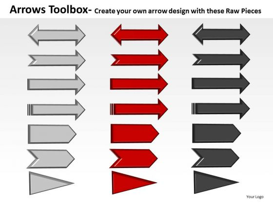 Adjustable Arrows Toolbox PowerPoint Slides And Ppt Diagram Templates