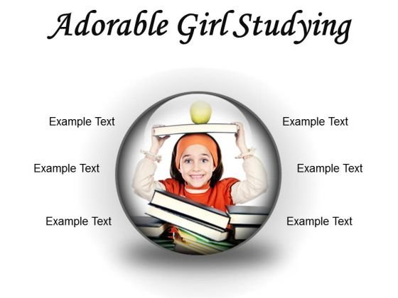 Adorable Girl Studying Education PowerPoint Presentation Slides C
