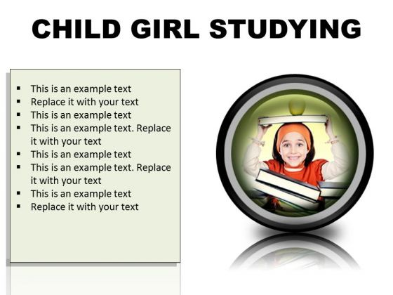 Adorable Girl Studying Education PowerPoint Presentation Slides Cc