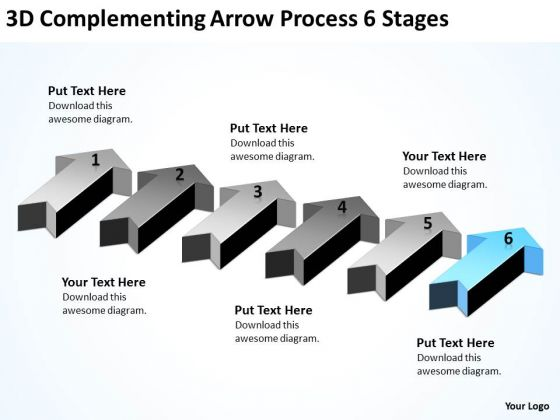 Advantage Of Parallel Processing 3d Complementing Arrow 6 Stages Ppt PowerPoint Slides