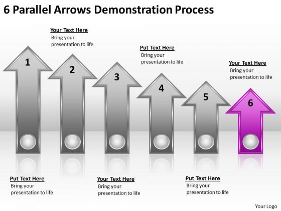 Advantage Of Parallel Processing 6 Arrows Demonstration Ppt PowerPoint Slides