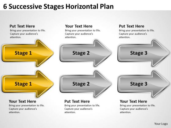 Advantage Of Parallel Processing 6 Successive Stages Horizontal Plan Ppt PowerPoint Slides