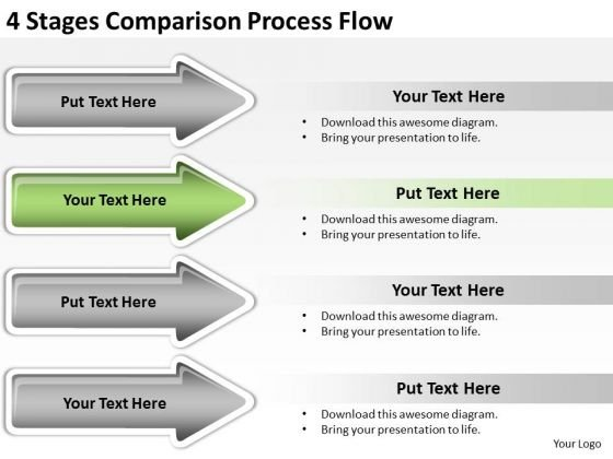 Advantages Of Parallel Processing 4 Stages Comparison Flow PowerPoint Templates