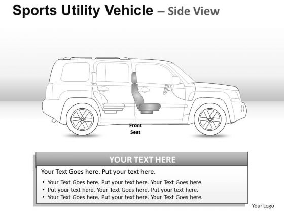 Aggressive Sports Utility Blue Vehicle PowerPoint Slides And Ppt Diagram Templates