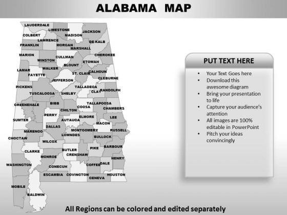 Alabama PowerPoint Maps