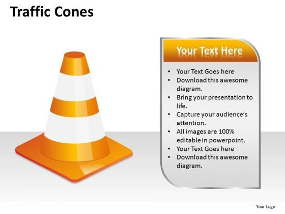 Alert Traffic Cones PowerPoint Slides And Ppt Diagram Templates