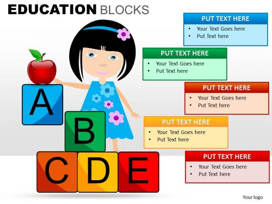 Alphabet Blocks PowerPoint Templates Education Ppt Slides