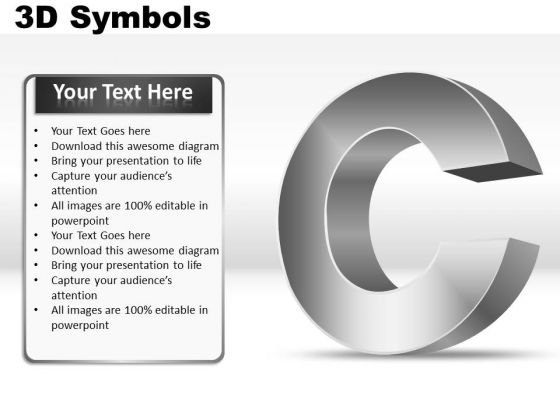 Alphabet C 3d Symbols PowerPoint Slides And Ppt Diagram Templates
