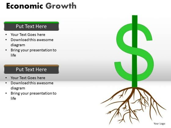 American Dollar Growing In Strength PowerPoint Templates And Ppt Slides